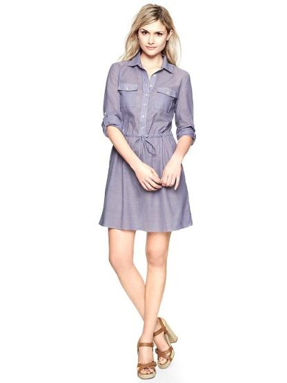 Pocket Tie-Waist Shirtdress by Gap