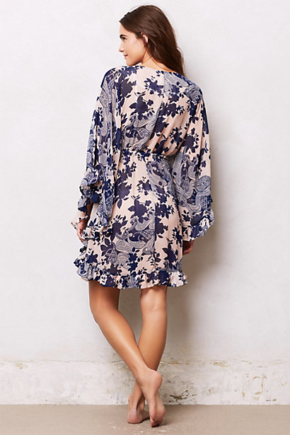 fluttered paisley robe anthropologie