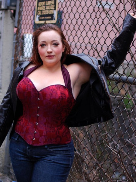 Angela Friedman custom plus size overbust corset