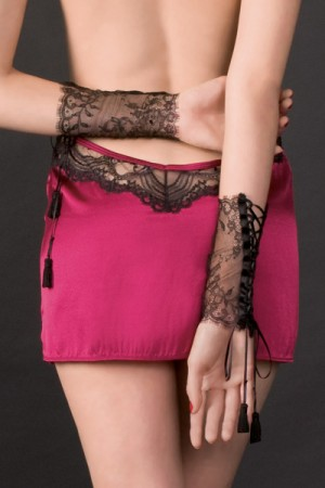 """Villa Satine"" Lace Cuffs by Maison Close ($63.53)."