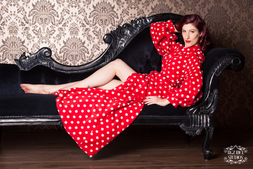 """Fleece Bettie Robe"" by Betty Blue's Loungerie (£220.00).  Available in sizes X-Small through X-Large."