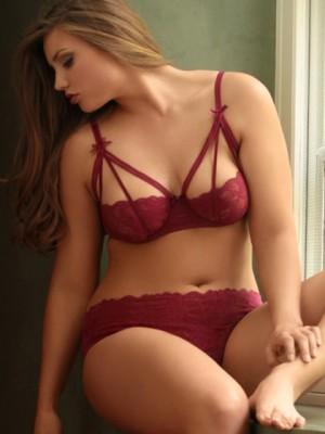 Hips and Curves Stretch Lace Strappy Bra