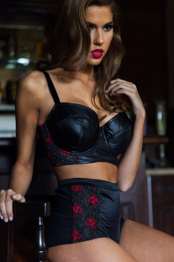 Billy longline bra and high-waist brief by Sunday Intimates for Fall/Winter 2014