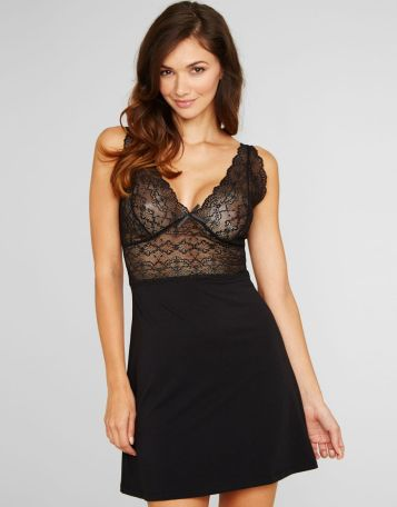 """Pandora"" D-G Stretch Lace Chemise by Figleaves"
