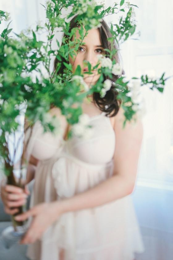 Bridal Boudoir- Sweet Nothings wears Elomi Maria Babydoll