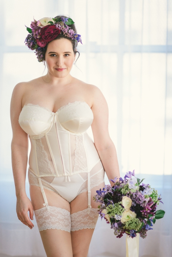 Bridal Boudoir- Sweet Nothings wears Elomi Maria Basque and Brief