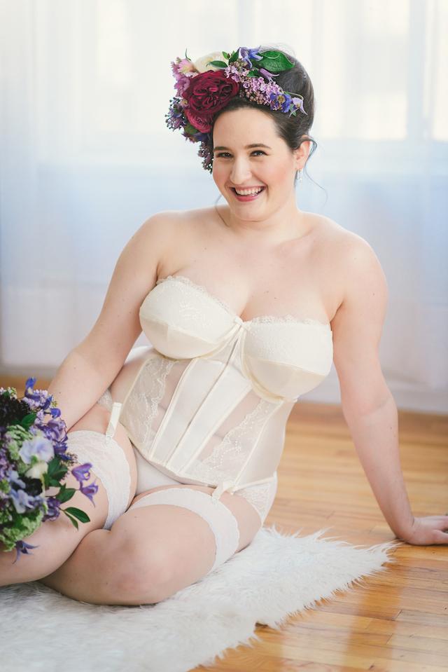 a5b31ea19 Bridal Boudoir- Sweet Nothings wears Elomi Maria Basque and Brief