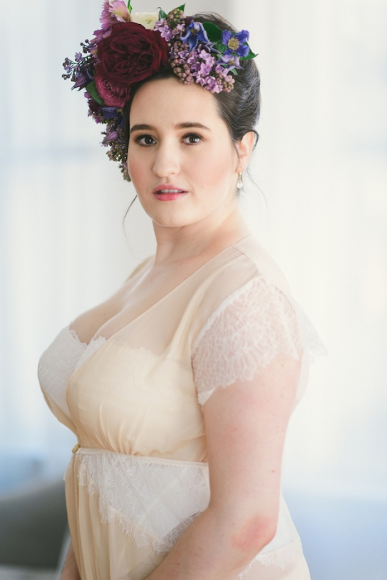 Bridal Boudoir- Sweet Nothings wears Harlow & Fox %22Eleanor%22 robe