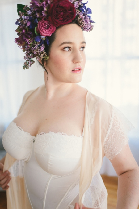 Bridal Boudoir- Sweet Nothings wears Masquerade Serenity Collection, Harlow & Fox Eleanor Robe