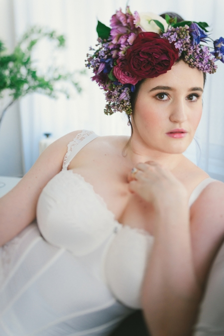 Bridal Boudoir- Sweet Nothings wears Masquerade Serenity Basque