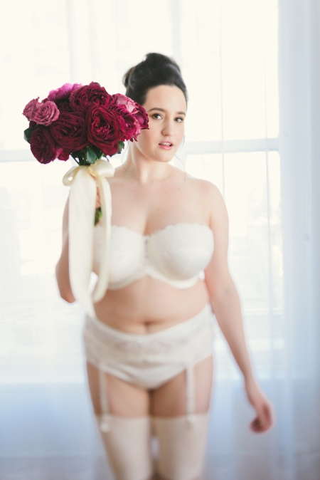 Bridal Boudoir- Sweet Nothings wears Masquerade Serenity Collection