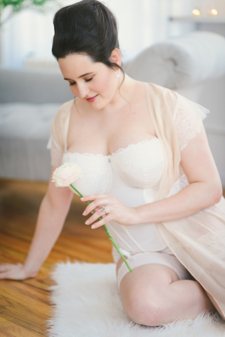 155daee99 Bridal Boudoir- Sweet Nothings wears Masquerade basque and Harlow and Fox  Robe